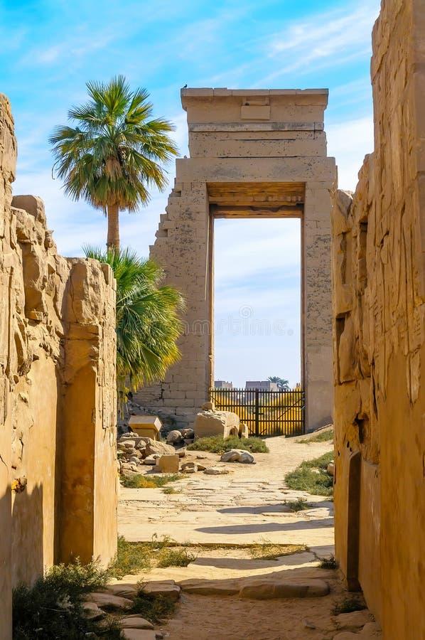 Висок в Луксоре, Египет Karnak. стоковое фото rf