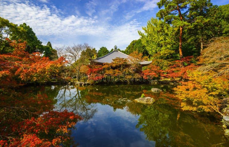 Висок в осени, Киото Daigoji, Япония стоковая фотография