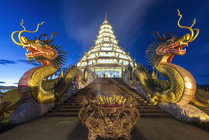 Висок в провинции Chiang Rai, Таиланде стоковые изображения