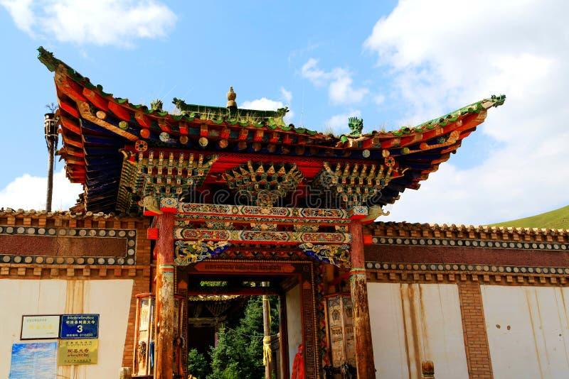 Висок в тибетце тибетского буддизма стоковое фото rf