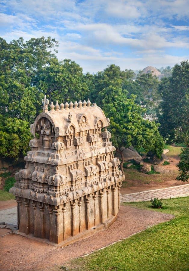 Висок в Mamallapuram стоковая фотография rf