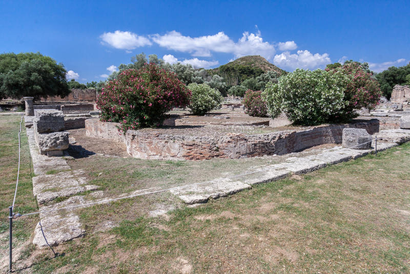 Висок Греция Олимпии стоковое изображение