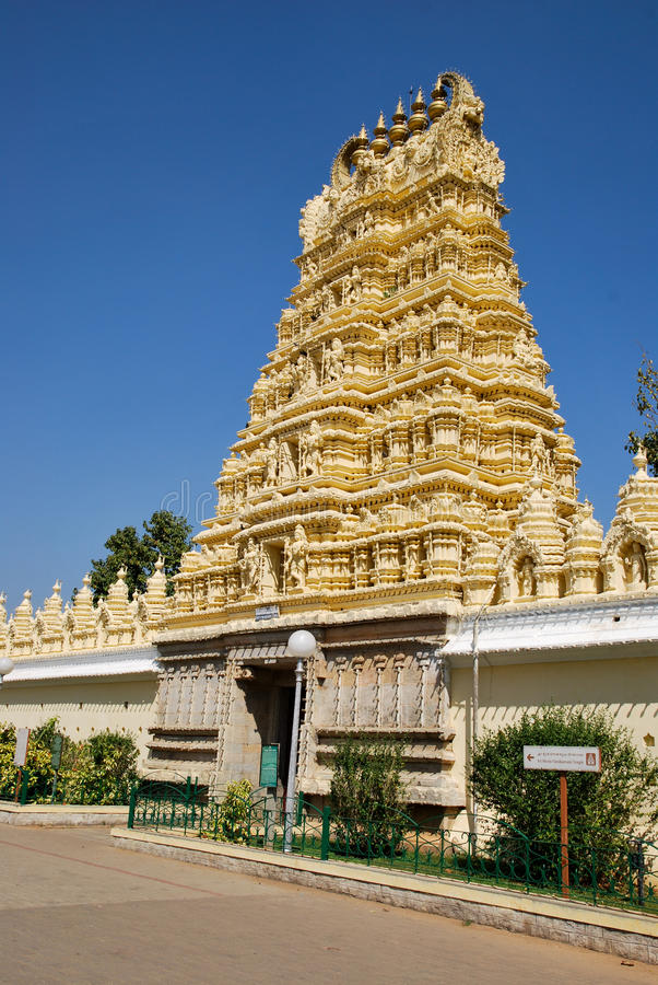висок дворца Индии mysore стоковое изображение