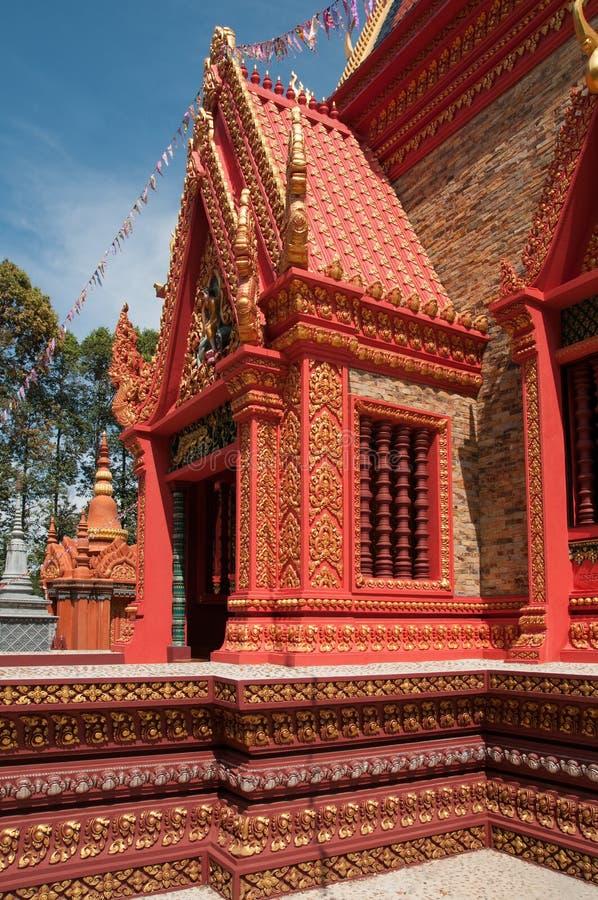 висок здания орнаментированный Камбоджей богато стоковое изображение rf