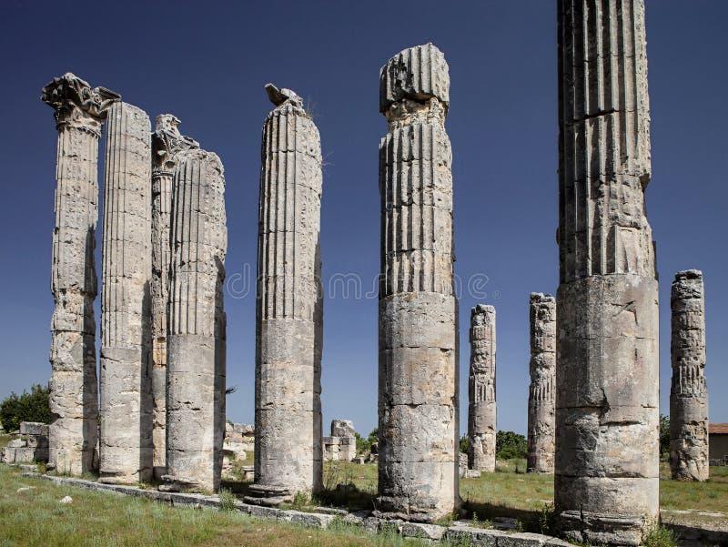 Висок Зевса, в Uzuncaburc Olba, Mersin - Турция стоковые изображения rf
