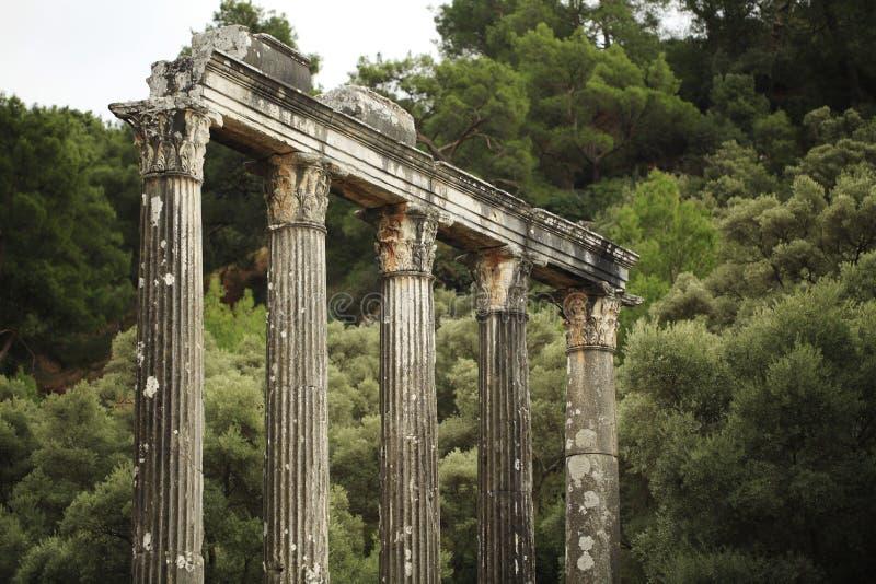 Висок Зевса на поселении Euromos древнегреческия стоковые фотографии rf