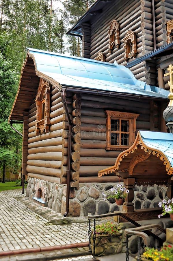 Висок значка Konevskaya матери бога стоковое изображение