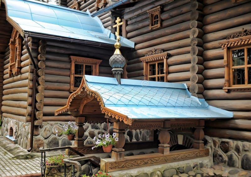 Висок значка Konevskaya матери бога стоковые изображения