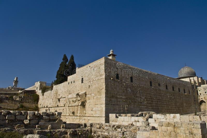 висок Иерусалима еврейский robinson дуги во-вторых стоковое фото