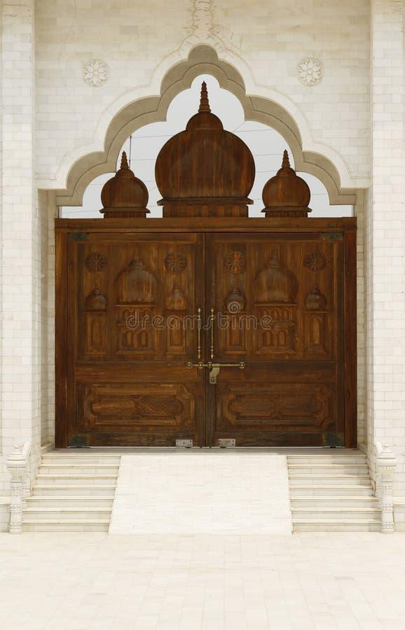 висок Индии красивейшего строба святейший к деревянному стоковая фотография rf
