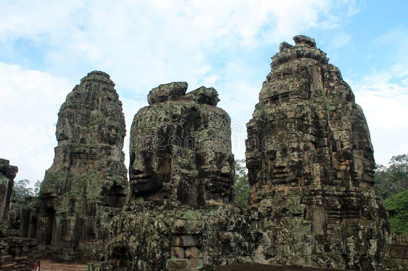 Висок Камбоджи Siem Reap Bayon стоковая фотография rf