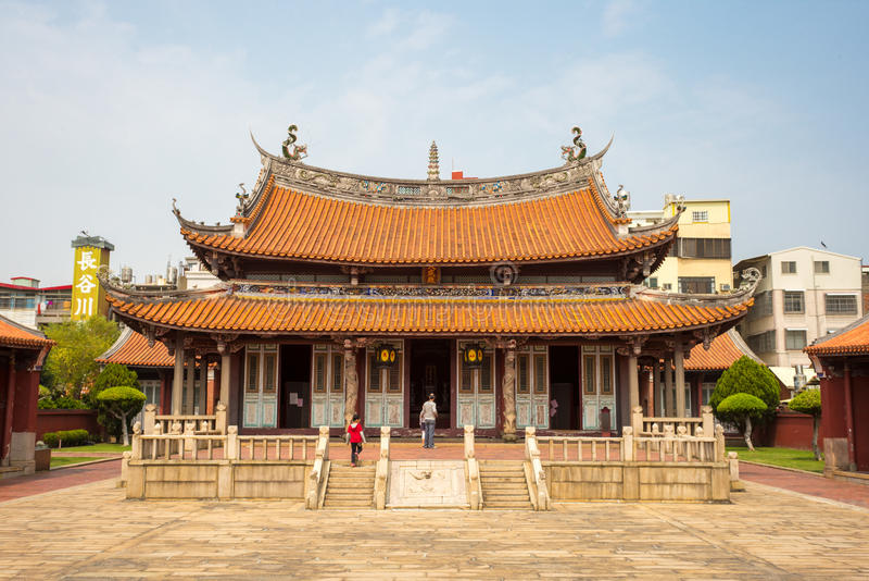 Висок Конфуция в Changhua, Тайване стоковое изображение