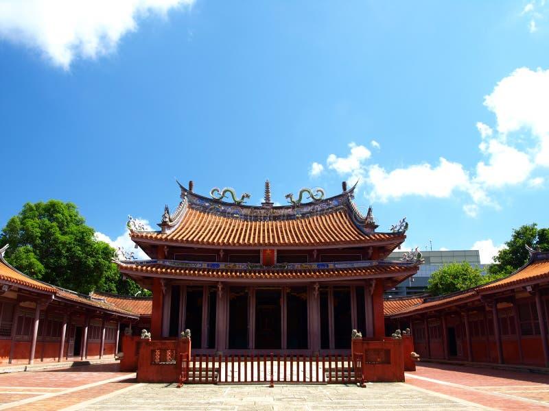 висок Конфуция tainan стоковое фото