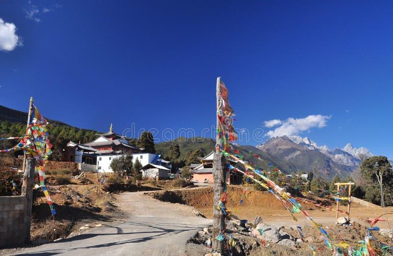 Висок лама Fuguo буддийский, Lijiang, Китай стоковое изображение rf