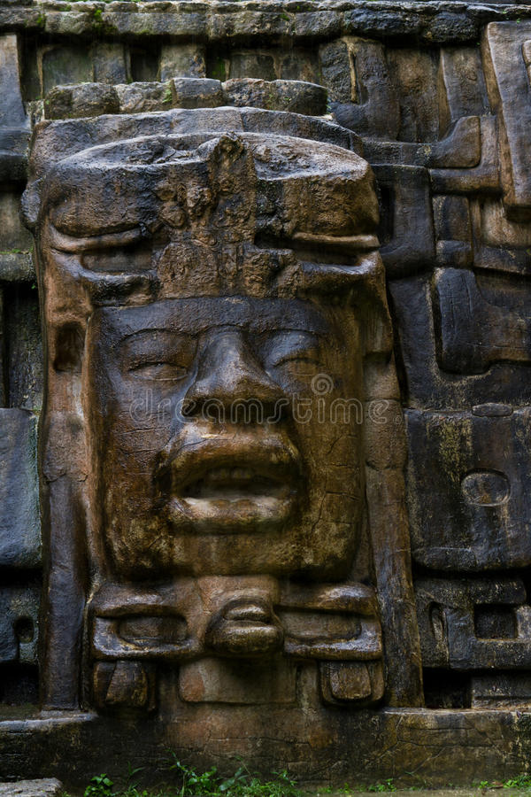 Висок маски, Lamanai Белиз стоковые фото