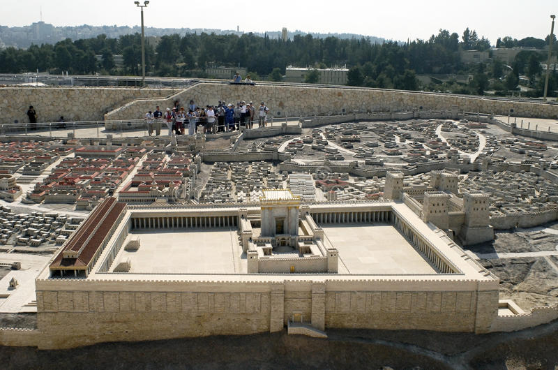 висок модели вторых Иерусалима стоковые изображения