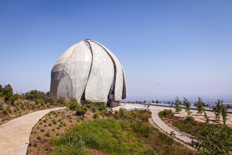 Висок молитвенного места Bahai - Сантьяго, Чили стоковое фото