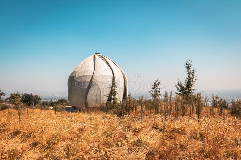 Висок молитвенного места Bahai - Сантьяго, Чили стоковое изображение rf