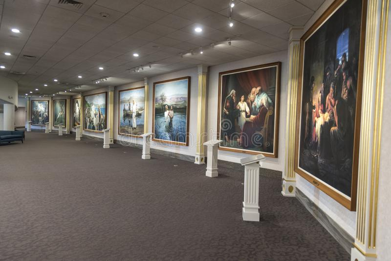 Висок Мормона Солт-Лейк-Сити внутренних северных посетителей разбивочный стоковое фото