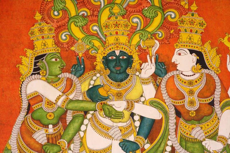 висок настенных росписей meenakshi Индии стоковые фотографии rf