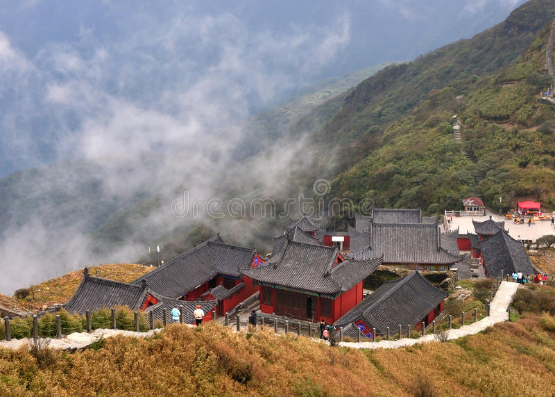 Висок на горе Fanjing стоковые фото