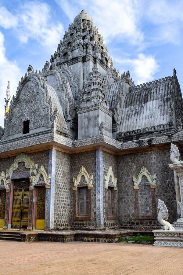 Висок на 'месте горы человека' - 1975-79 пыток Khmer Rouge стоковые изображения
