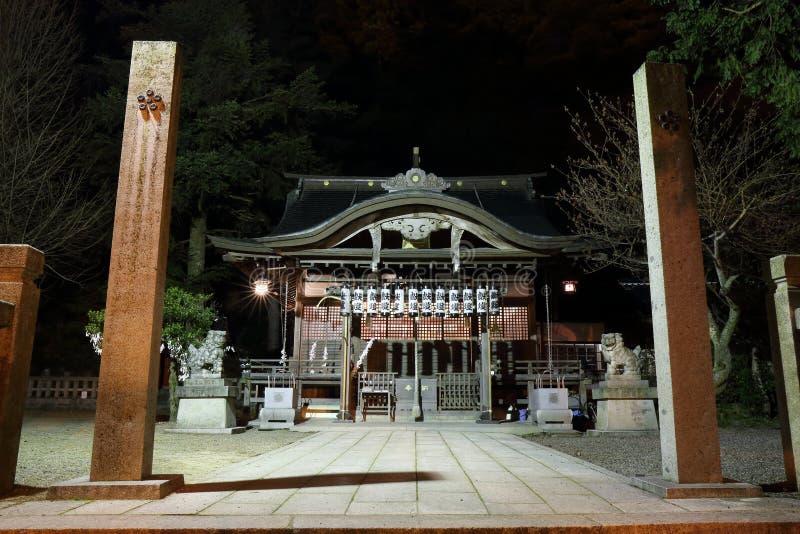 Висок на ноче, Kinosaki Дзэн, Япония стоковое изображение