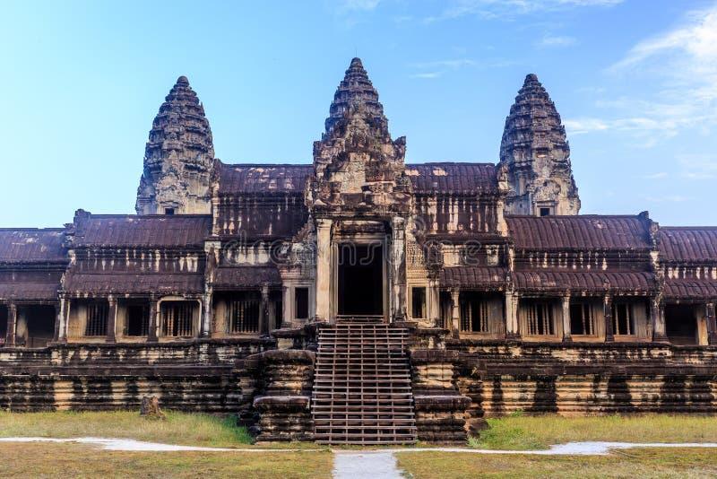 Висок на утре, Siem Reap Angkor Wat, Камбоджа стоковые изображения rf