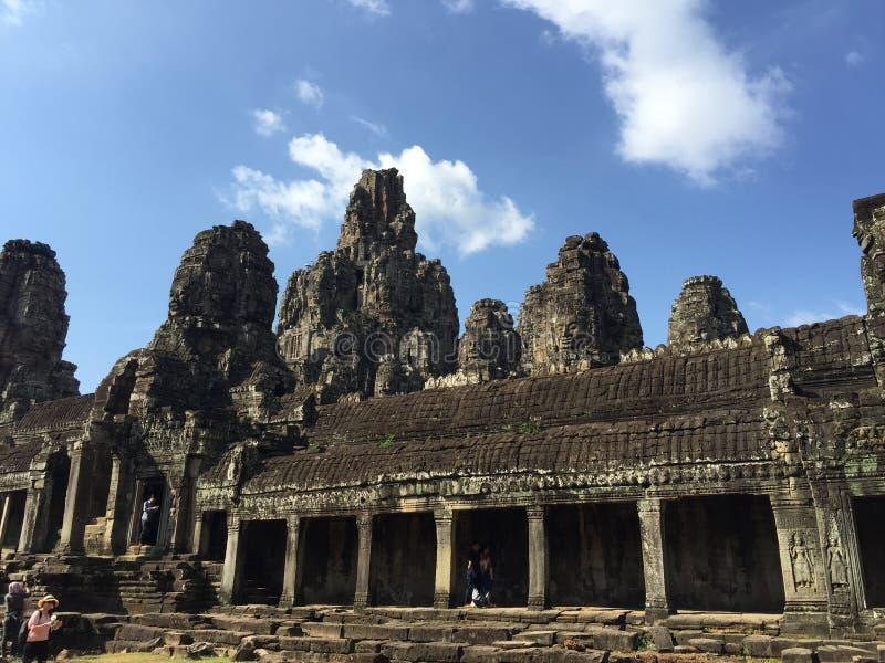 Висок на шве пожинает провинцию, Камбоджу стоковые изображения rf