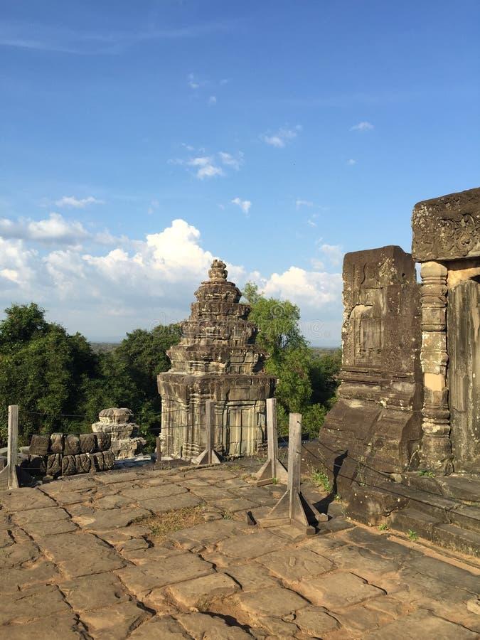 Висок на шве пожинает провинцию, Камбоджу стоковые изображения