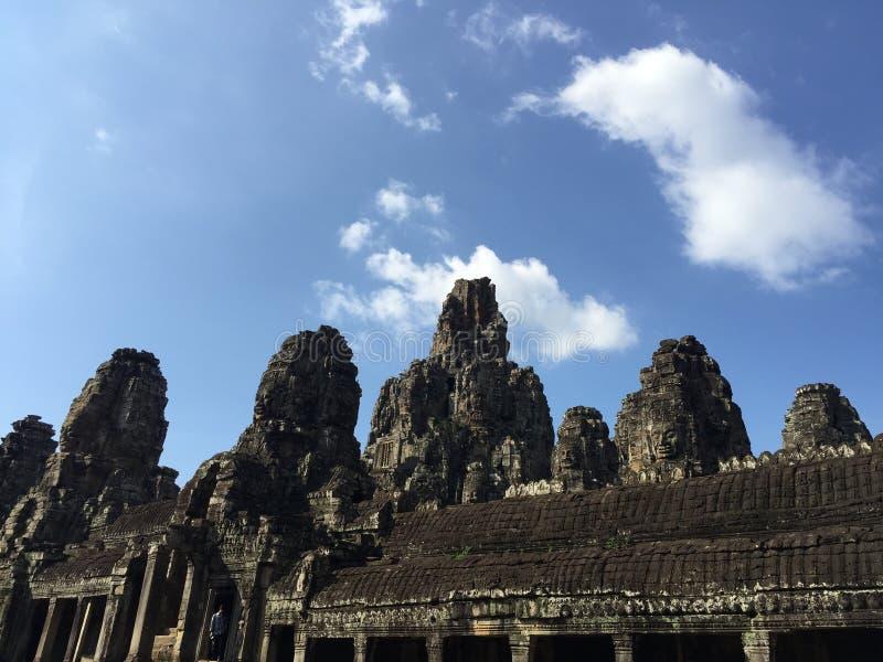 Висок на шве пожинает провинцию, Камбоджу стоковое фото