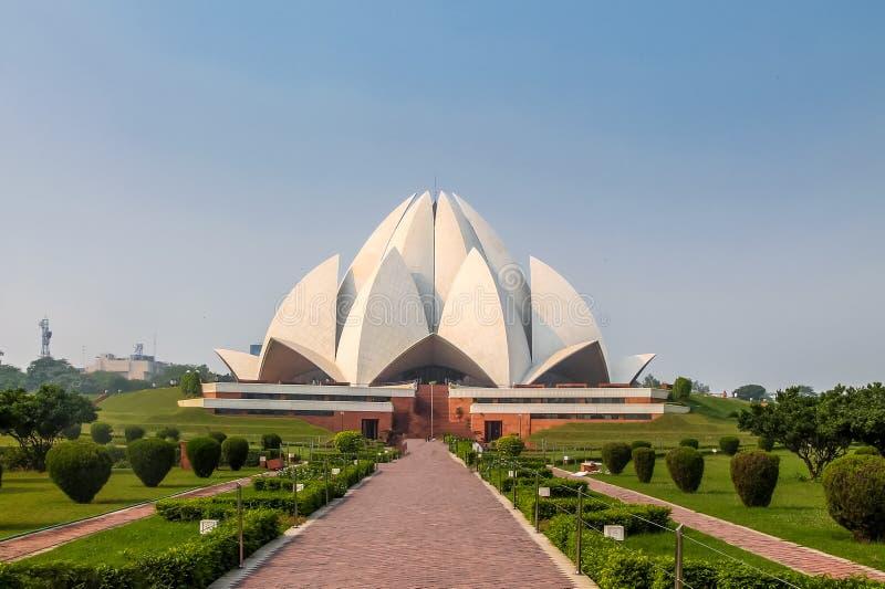 Висок лотоса Bahai - Нью-Дели, Индия стоковая фотография