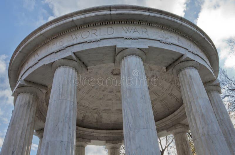 Висок памяти--Мемориал Первой Мировой Войны стоковое фото