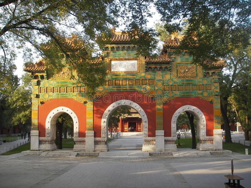 висок Пекин стоковое фото rf
