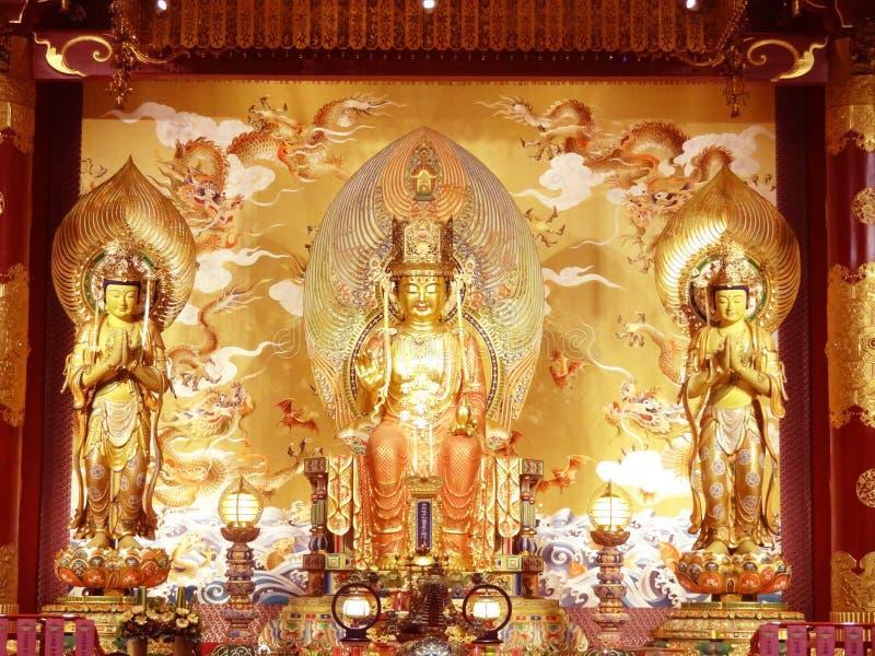 висок реликвии зуба Сингапура Чайна-тауна Будды стоковые фото