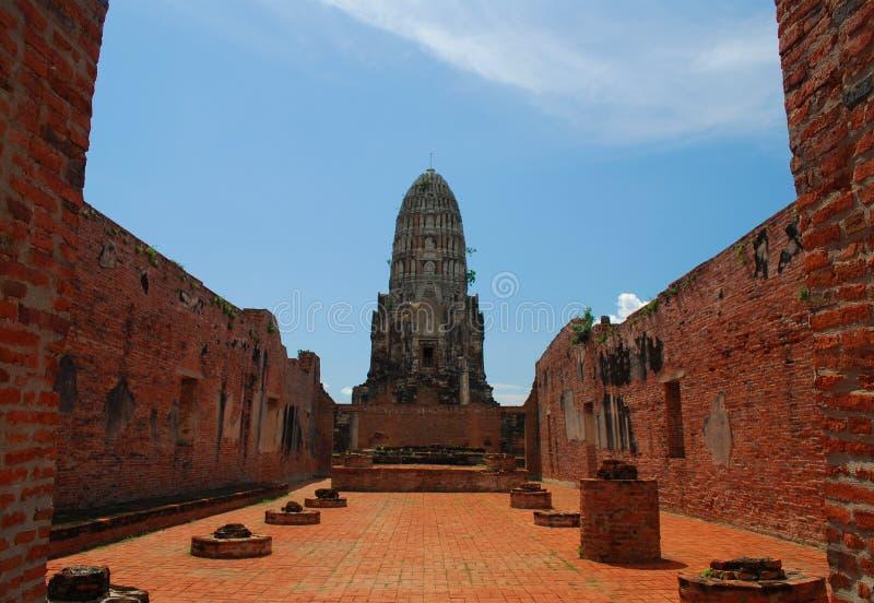 висок руин ayutthaya буддийский стоковое фото