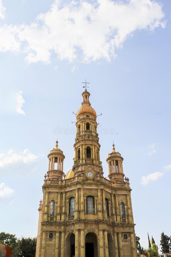 Висок Сан Антонио, в сердце Мексики стоковое изображение rf