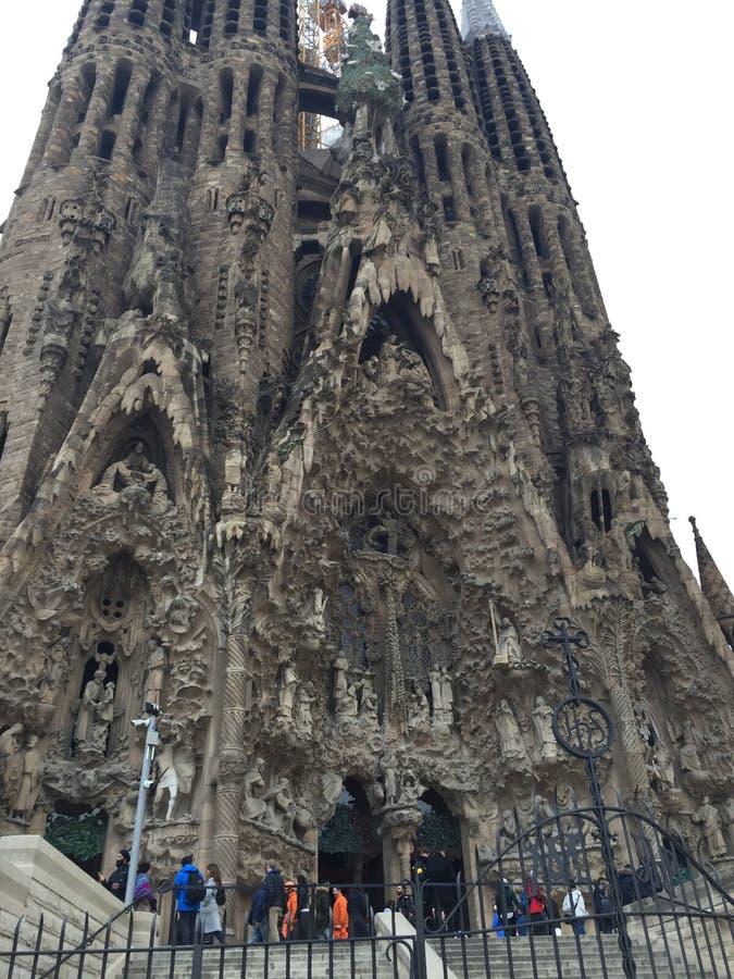 Висок святого ` семьи, геологохимическое явление ` Sagrada Familia искупительный, геология, escarpment, утес стоковое фото
