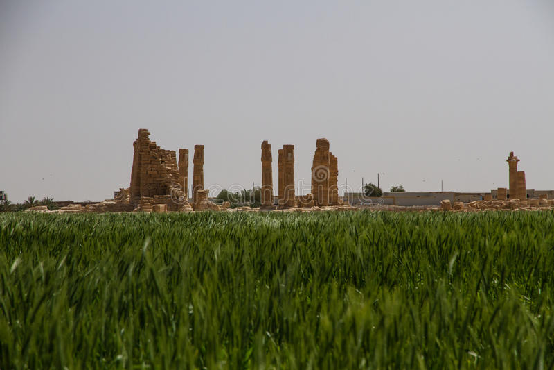 Висок Судан Soleb с другой стороны поля стоковые изображения rf