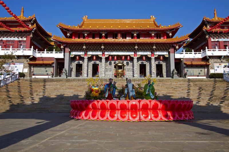 Висок Тайваня Wenwu стоковое фото