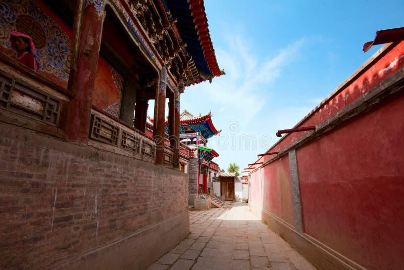 Висок тибетца Lamasery- Labrang стоковые фотографии rf