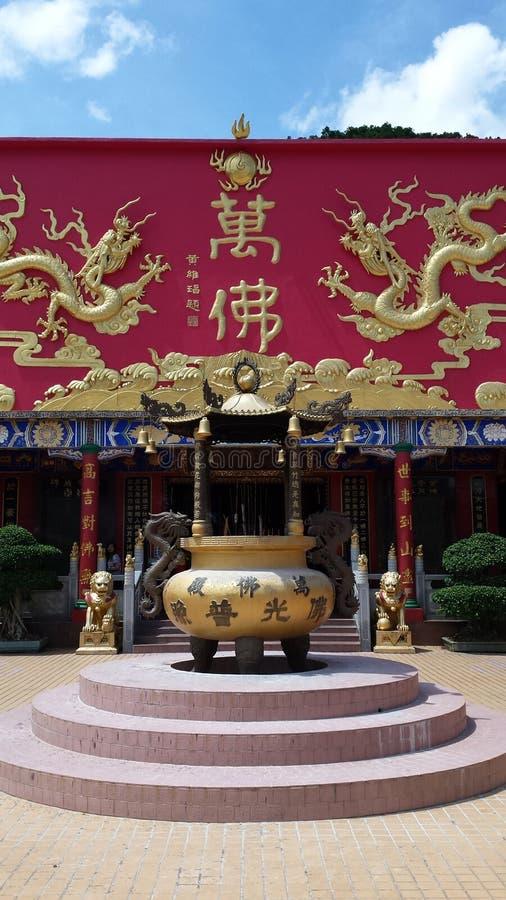 Висок 10 тысяч Будды стоковые фотографии rf