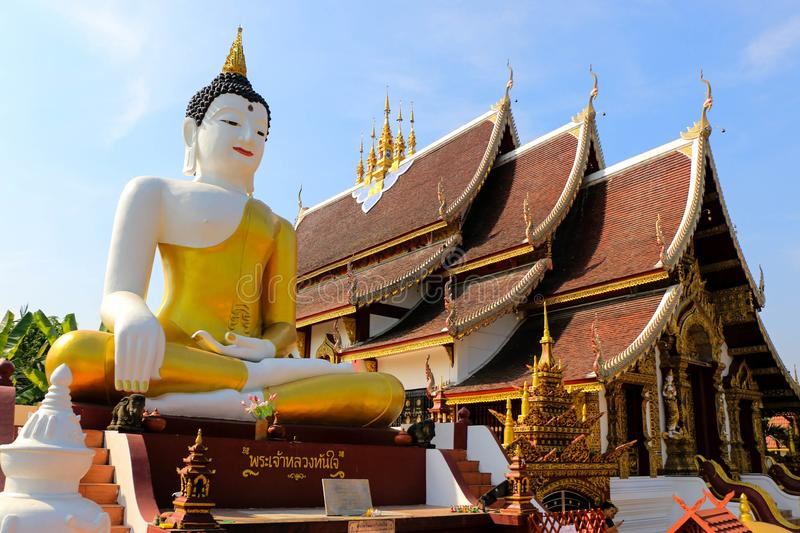 Висок Чиангмая тайский стоковое фото rf