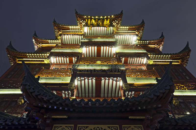 Висок Шанхай бога города стоковые изображения
