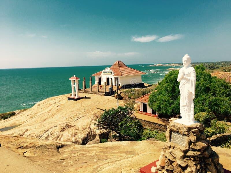 Висок Шри-Ланка Kirinda стоковые изображения