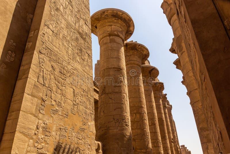 Висок штендеров Karnak стоковое фото rf