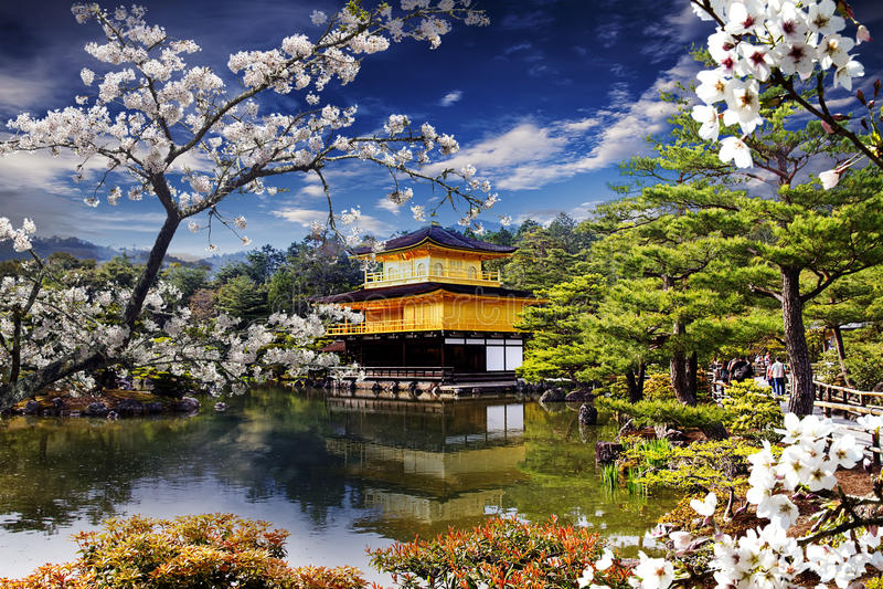 Висок Япония золота стоковое фото rf