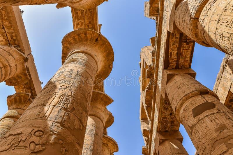 Висок Amon-Re на Karnak стоковая фотография