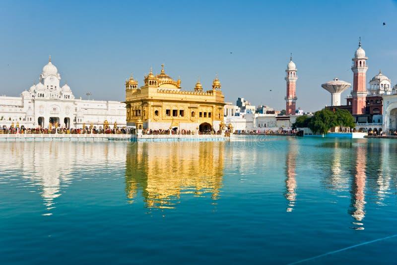 висок amritsar золотистый Индии Пенджаба стоковая фотография rf