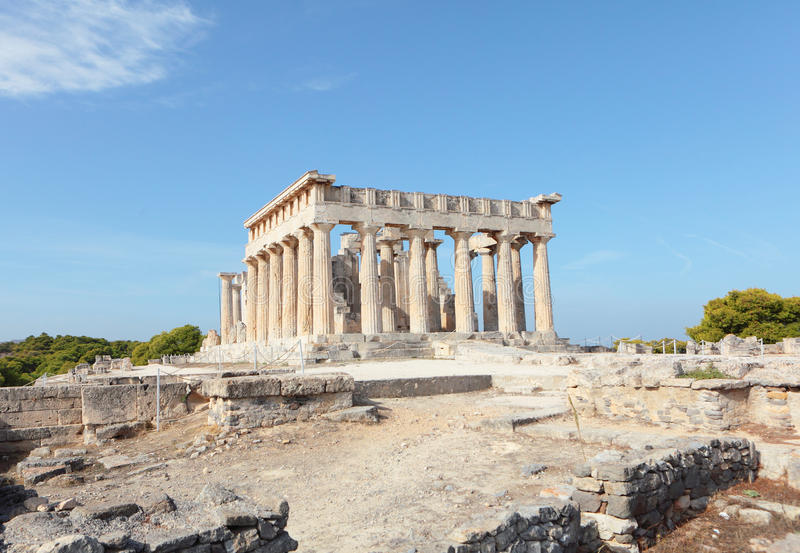 Висок Aphaia в Aegina стоковые фото